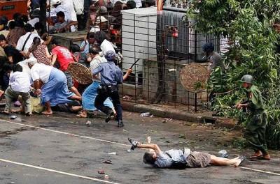Народный бунт в Мьянме! Жесть! (26 фото)