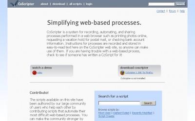 Сервис CoScripter упростит рутинную работу в интернете