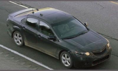Получены шпионские снимки Acura TSX
