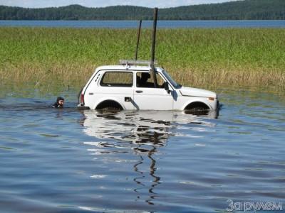 История о том, как Нива под водой ездила! (34 фото)
