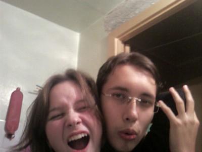Я и моя сестра :))