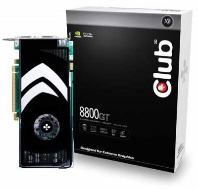 Видеокарта на GeForce 8800 GT теперь и от Club 3D