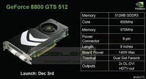 GeForce 8800 GTS на чипе G92 выйдет 3 декабря