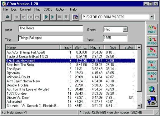 CDex ist ein CD extractor , entwickelt von Windows-Programm, der dazu