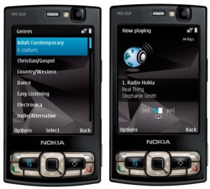 Радиотрансляция через интернет на телефонах Nokia