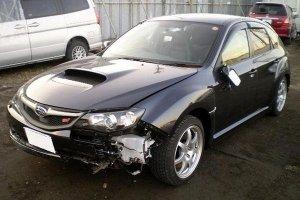 Subaru Impreza WRX STi: первая авария