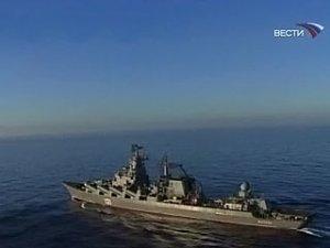 """Российский крейсер """"Москва"""" успешно отстрелялся в Атлантике"""