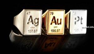 Ag, Au и Pt rings – «периодические» кольца