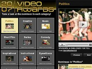 Объявлены ролики-лауреаты YouTube Video Awards 2007