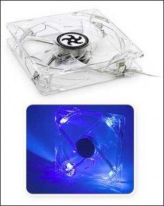 Прозрачный 120-мм вентилятор с голубой подсветкой от Pentagram