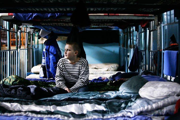 Интересное Военезированый лагерь для детей.