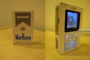 Телефон в виде пачки Marlboro (8 фото)