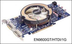 ASUS EN9600GT/HTDI/1G: 1 Гб GDDR3 + кулер Glaciator Fansink