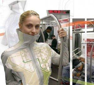 BLU - концептуальная одежда с дисплеями