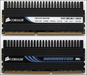 Corsair подготовила набор памяти DDR3-1800 объёмом 4 Гб