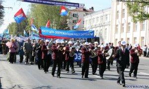 """1 мая в Чебоксарах прошла демонстрация, ветеранам вручили """"Жигули"""""""