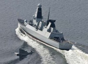 Великобритания провела морские испытания нового эсминца
