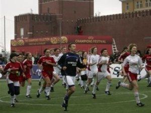 Звезды футбола сыграли вничью на Красной площади