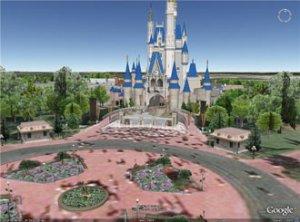 В Google Earth появились 3D-модели парков развлечений Walt Disney World
