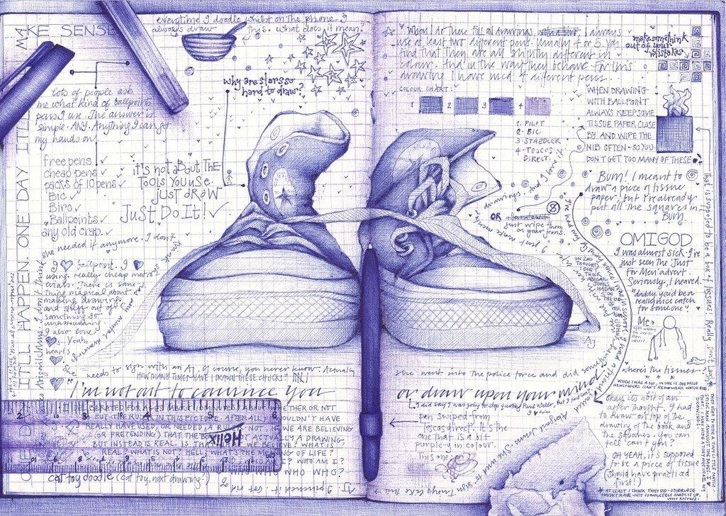 Картинки нарисованные карандашом в тетради 5