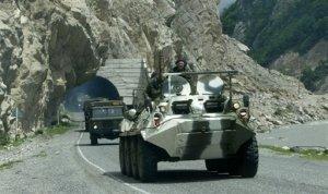 Российские войска двинулись в сторону Южной Осетии