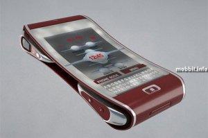Концептуальный телефон с двумя сенсорными дисплеями