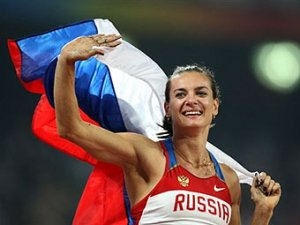 Исинбаева установила мировой рекорд на Олимпиаде