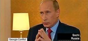 """Путин поверил в """"теорию заговора"""" российских СМИ и пересказал ее CNN: война в Грузии началась из-за выборов в США"""