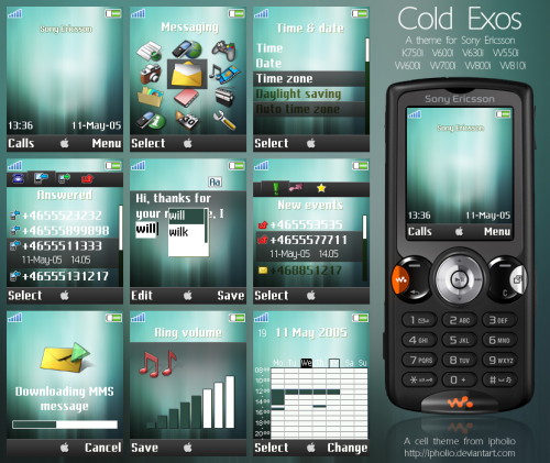 Подборка дизайнерских тем для Sony Ericsson
