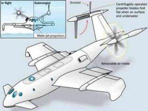 Пентагон разработает летающую подлодку