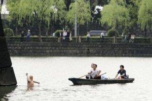 Отжиг туриста в Японии