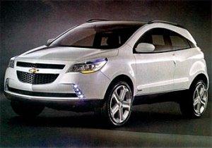 Появились фотографии концептуального кроссовера Chevrolet