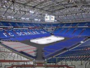 Первый матч чемпионата мира по хоккею 2010 года пройдет на футбольном стадионе