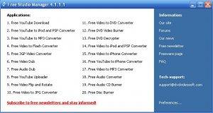 Free DVD Video Studio 4.1.1.2
