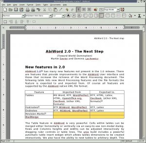 AbiWord for Linux 2.7.9