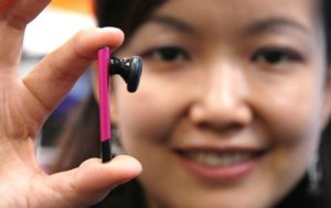 Самая тонкая в мире Bluetooth-гарнитура от компании CyberBlue