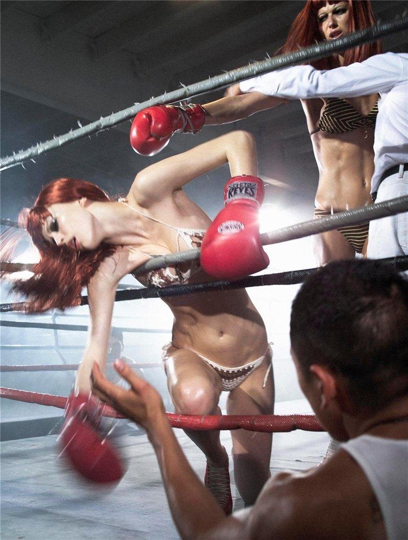 Сексуальный бокс женщин 5 фотография
