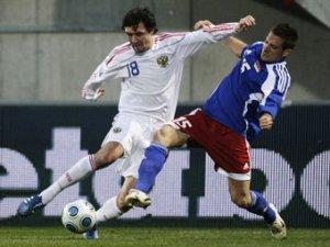 Сборная России победила Лихтенштейн в отборочном матче ЧМ-2010
