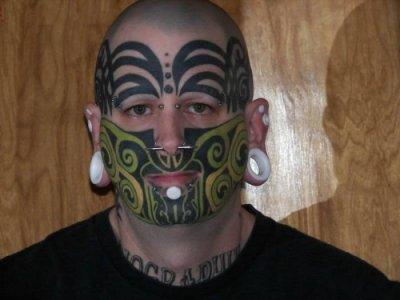 Татуированные лица (6 фото)