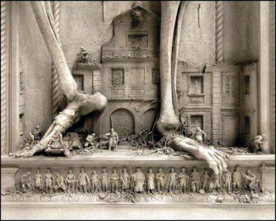 Скульптуры Kris Kuksi (8 фото)