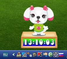 Cute Puppy Clock 1.2 Rus