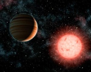 Планета и звезда оказались одного размера