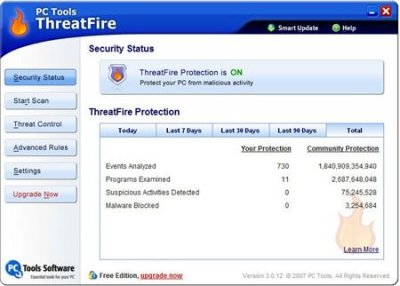 PC Tools ThreatFire 4.5.0.20