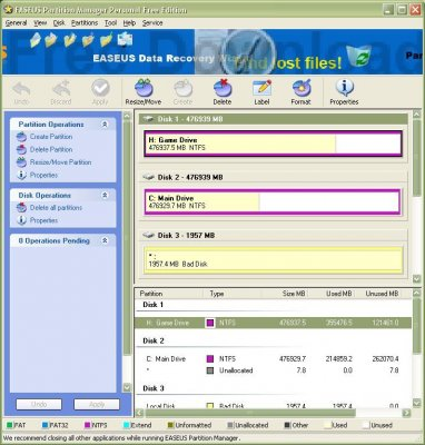 EASEUS Partition Master Home Edition 4.0.1