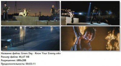 Видео клип Green Day - Know Your Enemy