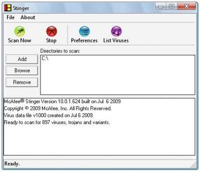 McAfee AVERT Stinger 10.0.1.624