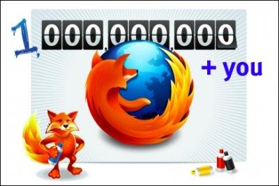 Сегодня число загрузок Firefox превысит миллиард