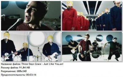 Видео клип Three Days Grace - Just Like You