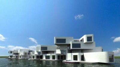 Водоплавающий дом (6 фото)