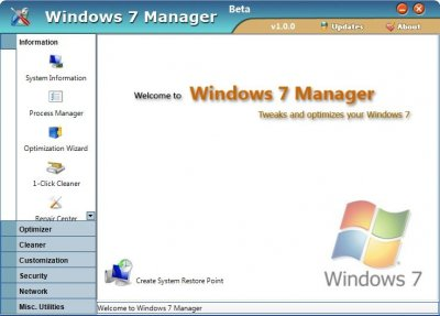 Windows 7 Manager 1.1.2